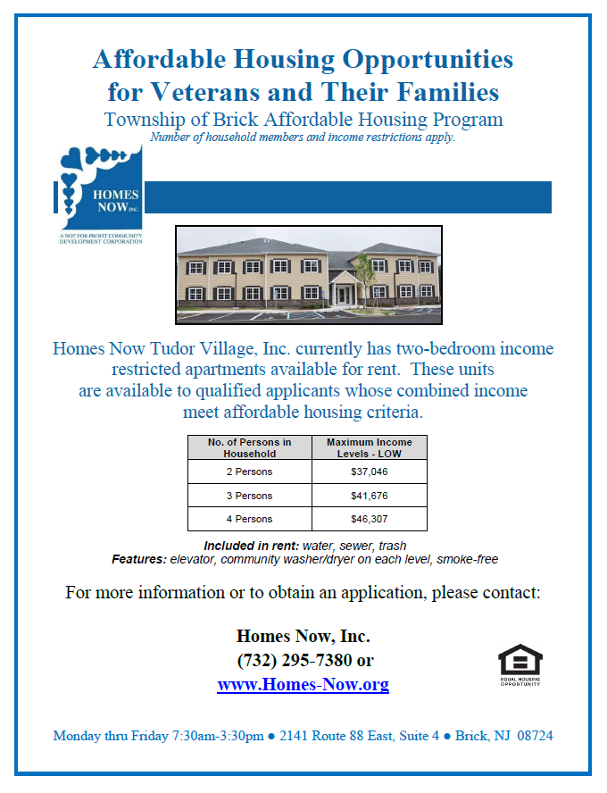 Affordable Housing Opportunities for Veterans and Their Families